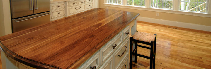 Kitchen Island Edge Glued